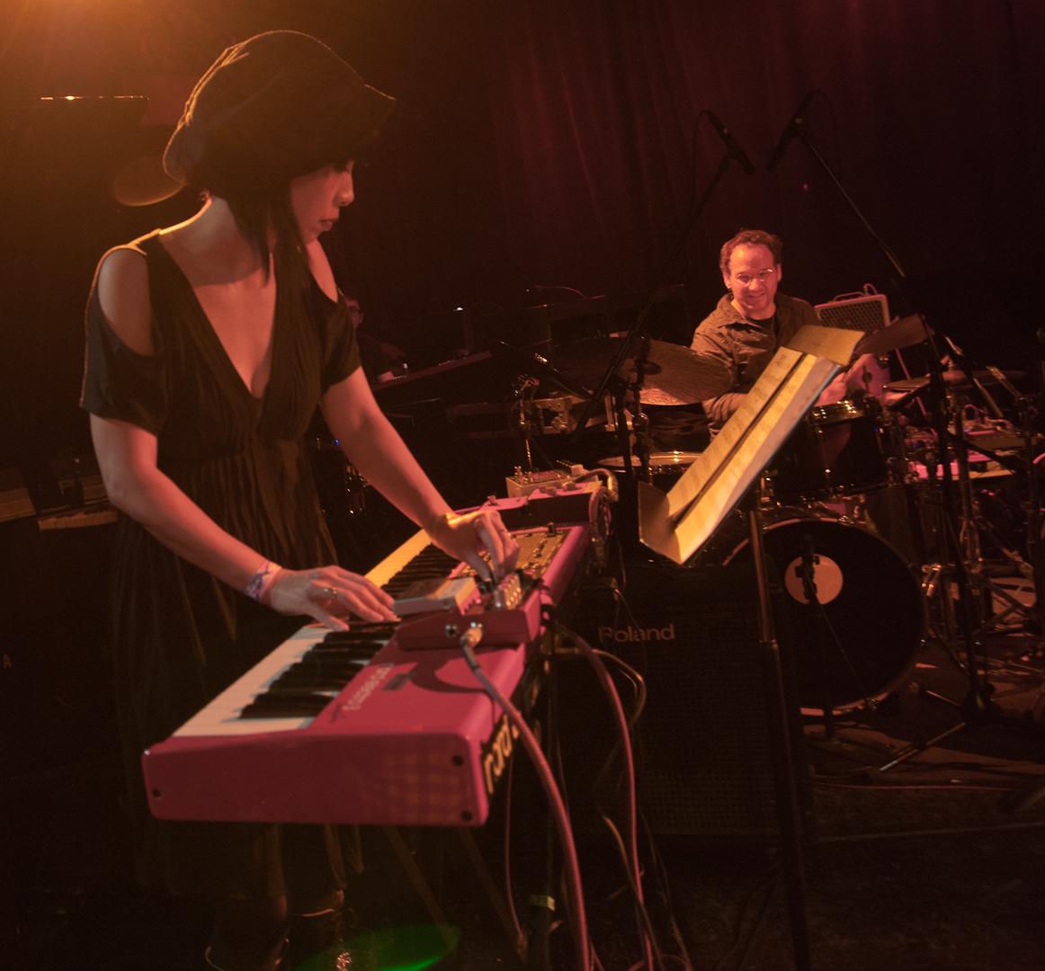 Yuka Honda and Scott Amendola with the Nels Cline Singers at the Winter Jazzfest 2012