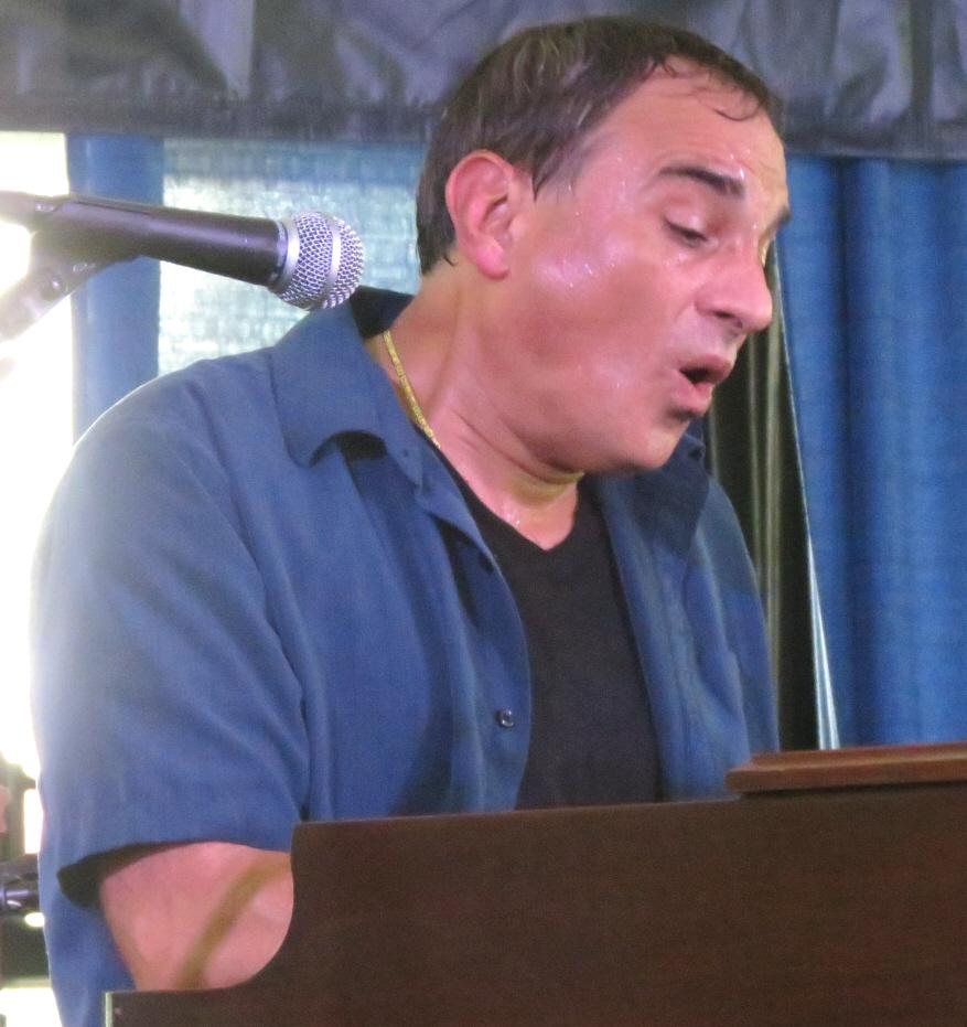 Tony monaco with fareed haque at 2013 chicago jazz festival