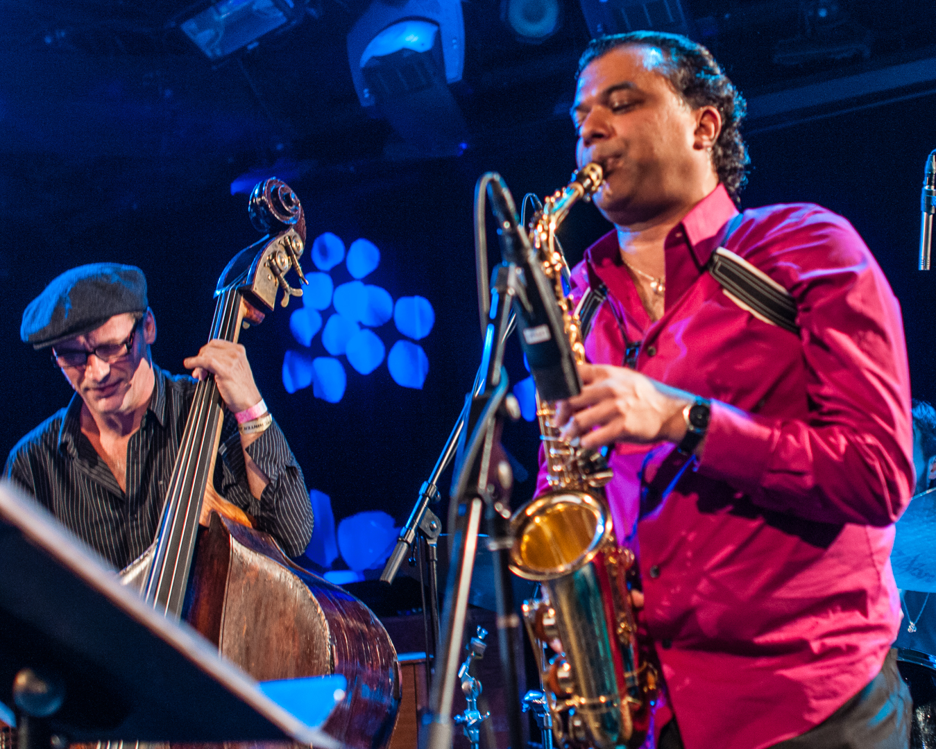 Francois Moutin and Rudresh Mahanthappa's Gamak at le Poisson Rouge at Winter Jazzfest 2013