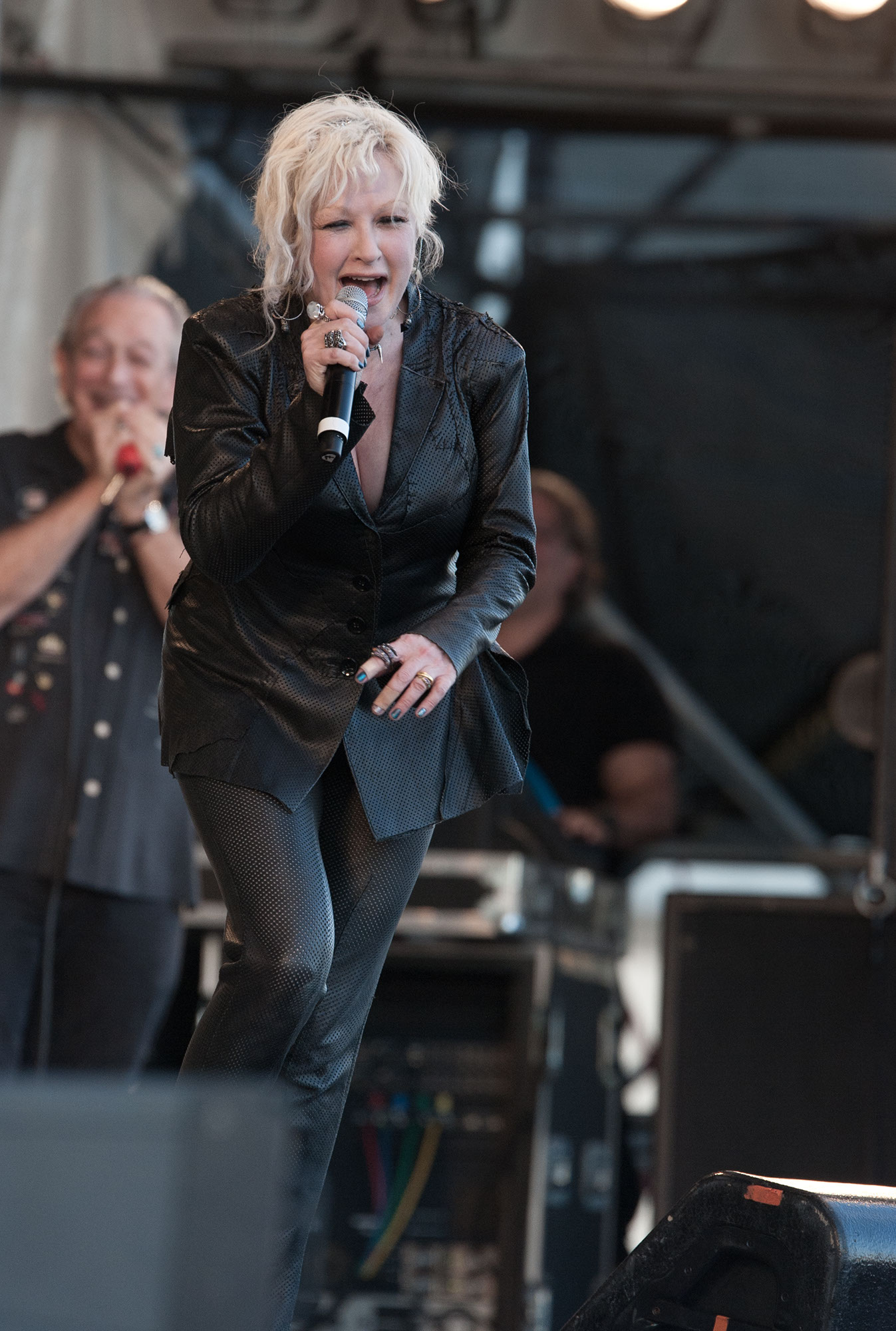 Cindy Lauper and Charlie Musselwhite