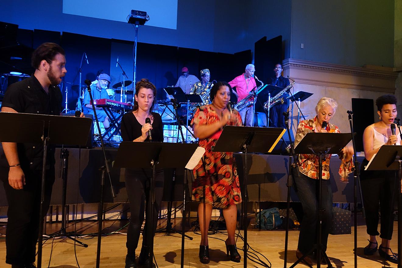 Jake Sokolov-Gonzalez, Raina Sokolov Gonzalez, Fay Victor, Ellen Christi, & Anais Maviel at Vision Festival 20