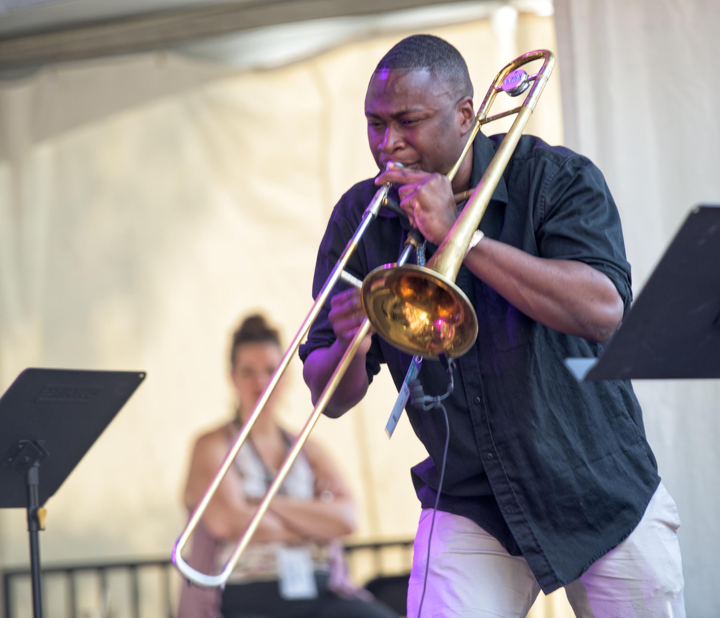 Modibo Keita with Oran Etkin at the Montreal Jazz Festival 2015