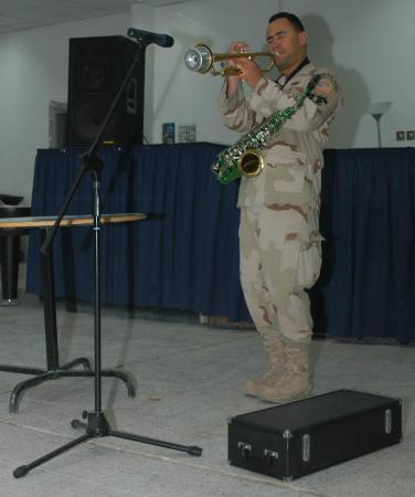 Performing for Visiting General and Entourage