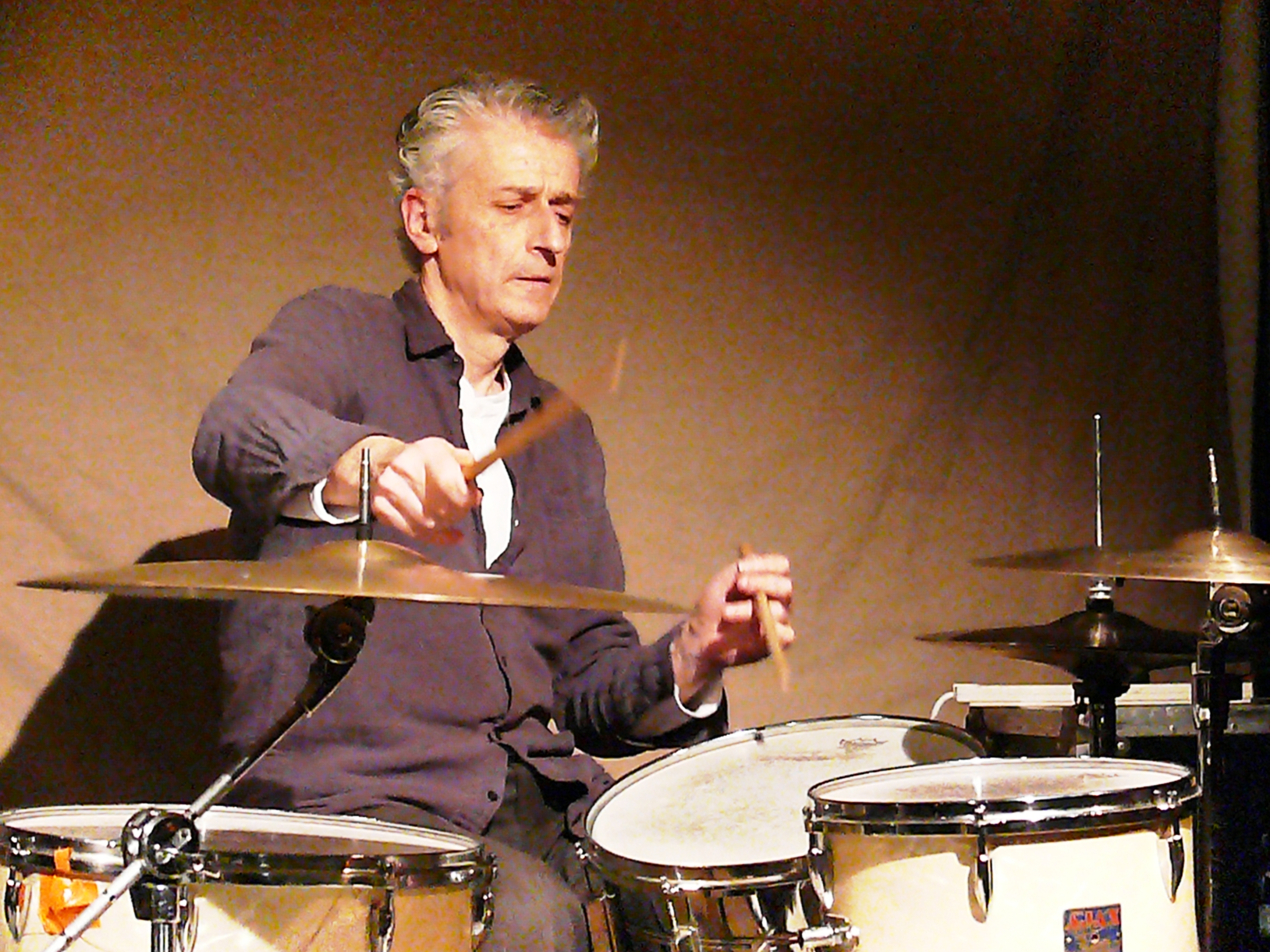 Steve Noble at Cafe Oto, London in January 2013