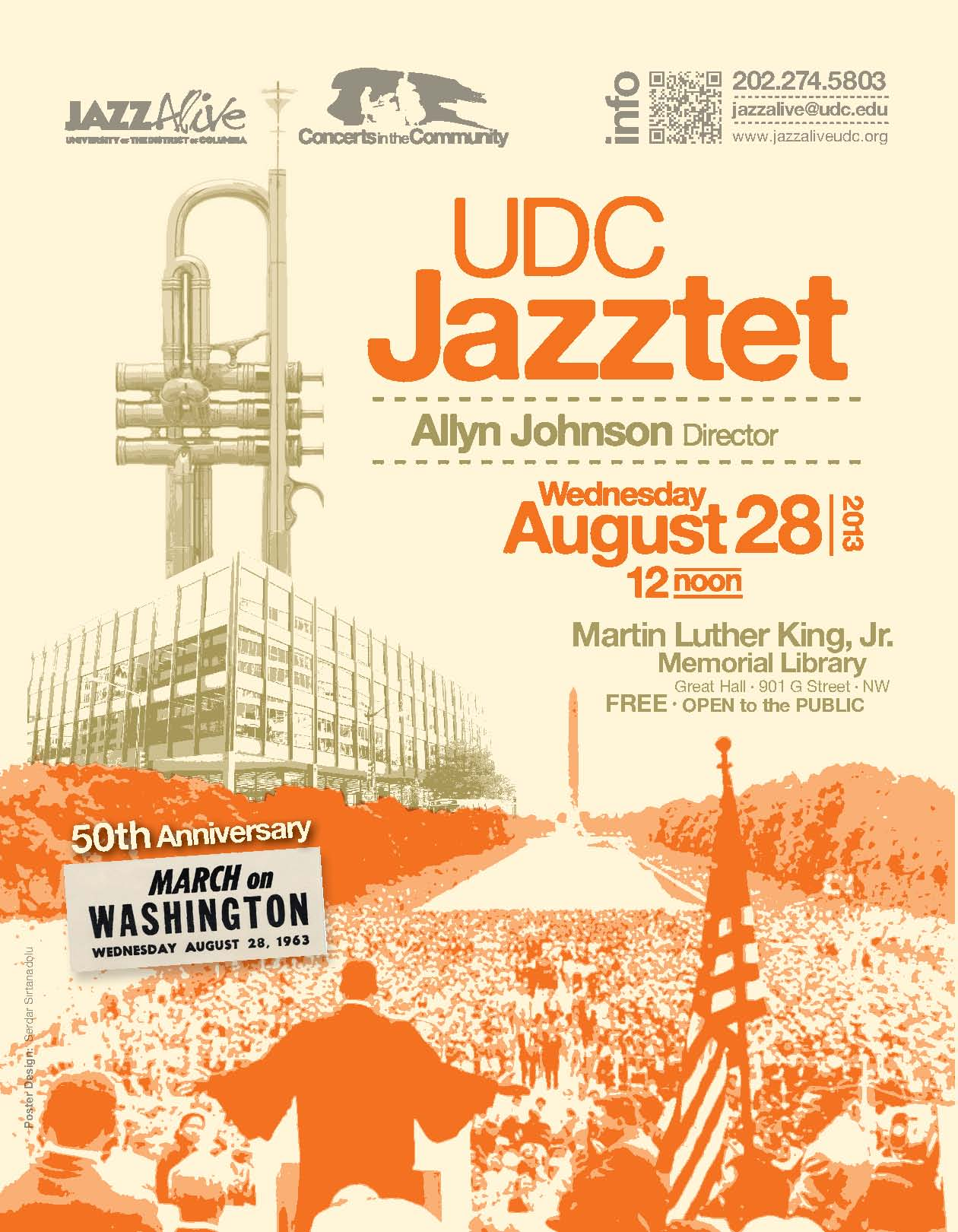 Udc jazztet, dir. allyn johnson celebrates the 50th anniversary of the march on washington at the martin luther king, jr. memorial libary on wednesday, august 28, 2013