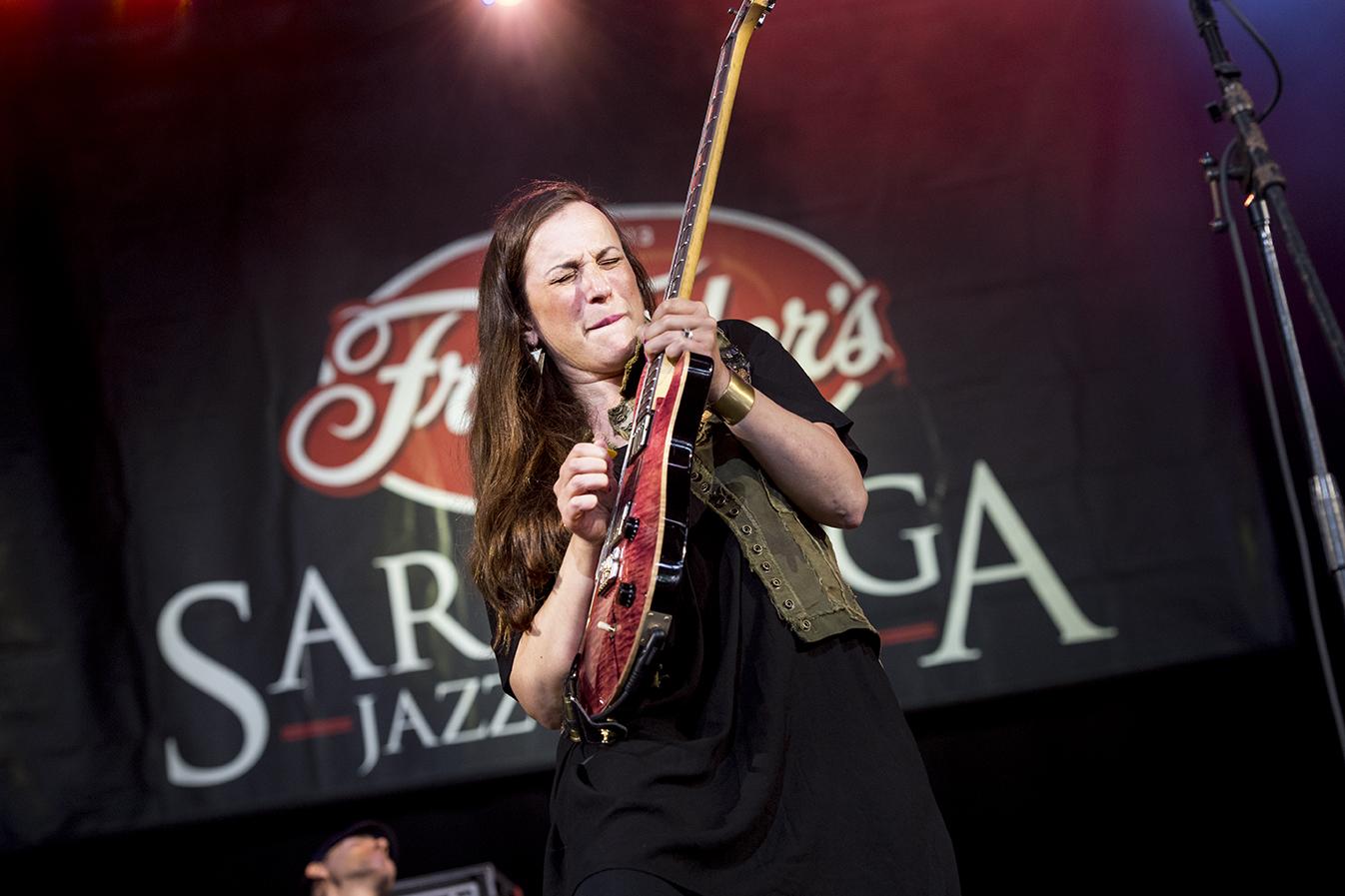 Donna Grantis at the 2019 Saratoga Jazz Festival