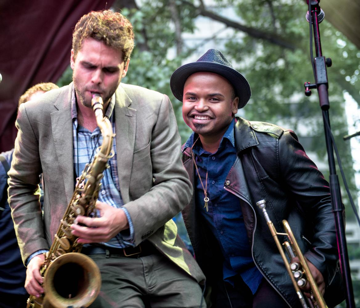 Ben Flocks and Alphonso Horne with Sammy Miller and the Congregation at The Montreal International Jazz Festival 2017