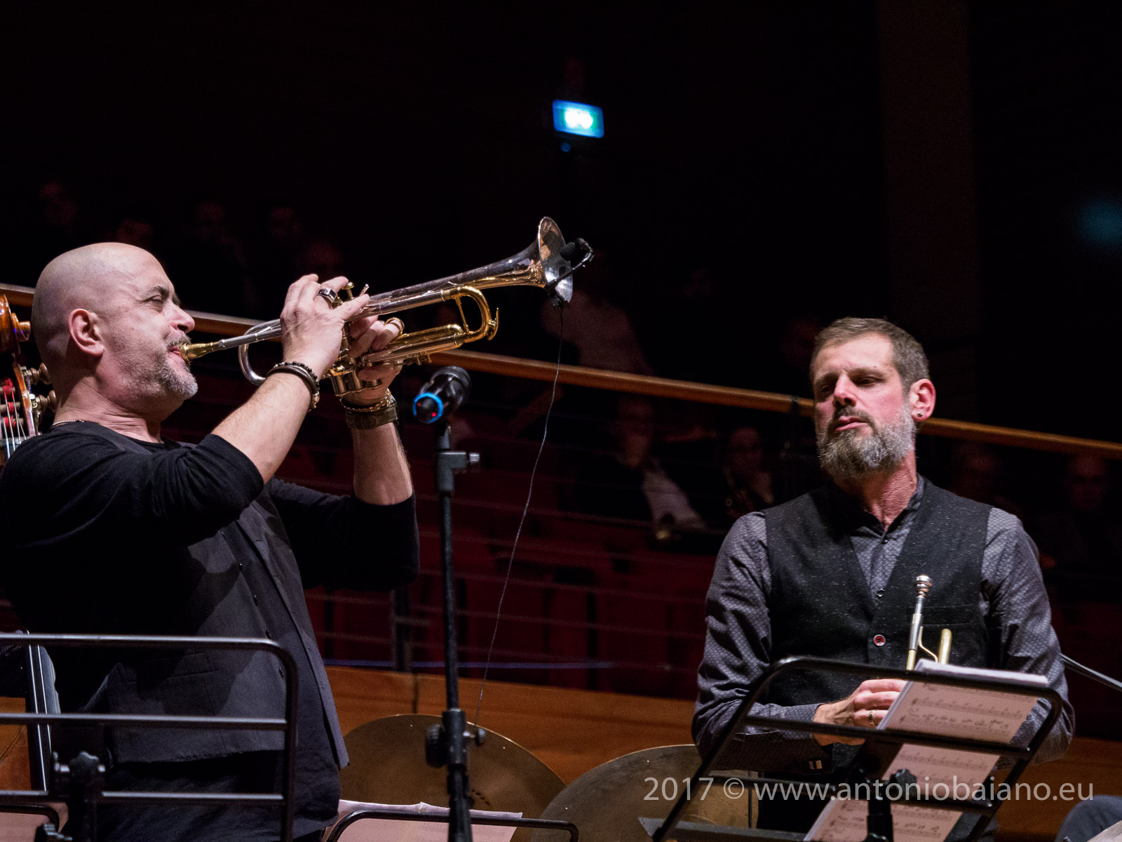 Flavio Boltro and Fabrizio Bosso - Dizzy Gillespie Centenary - Moncalieri Jazz Festival
