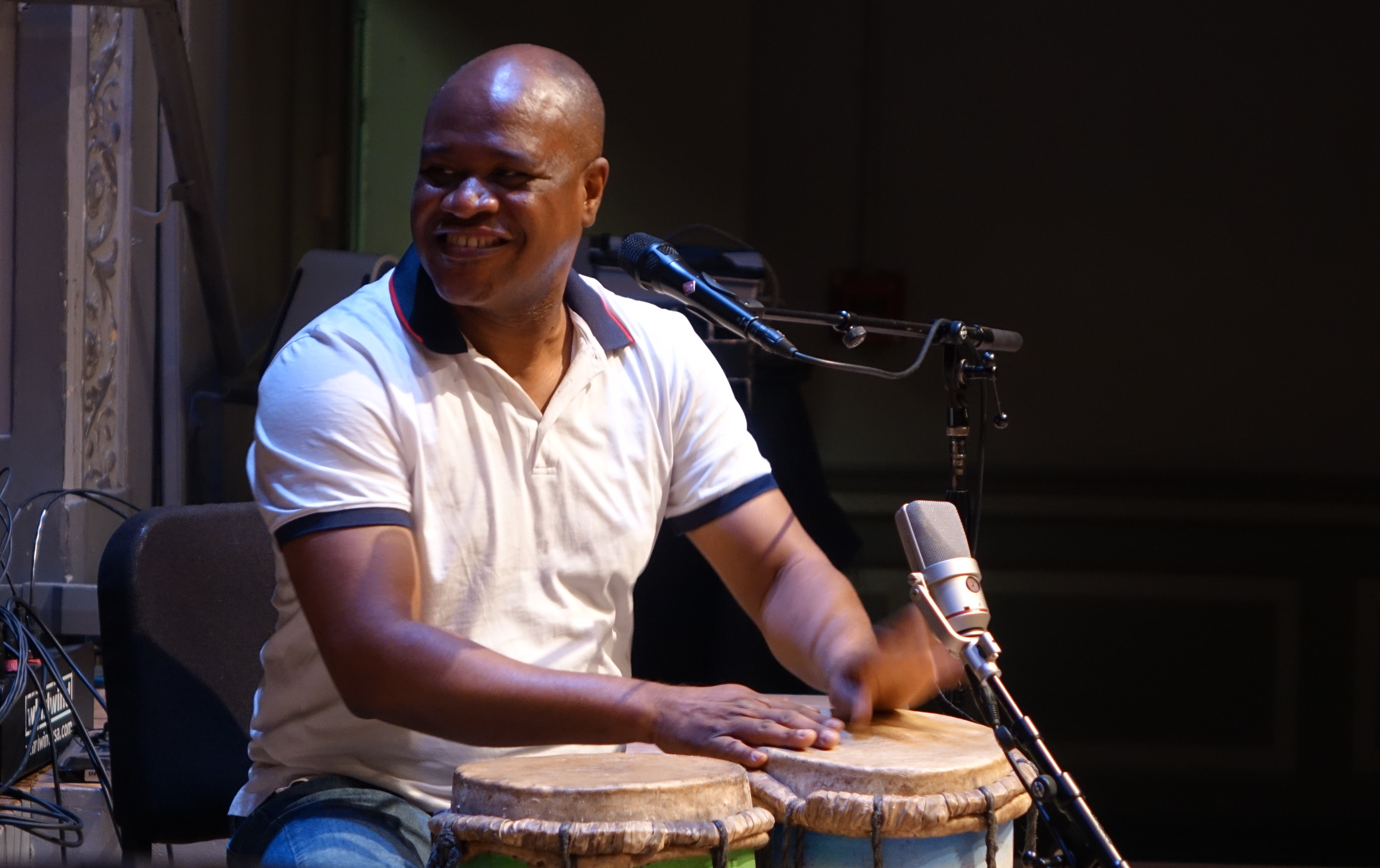 Jean Guy Rene at the Vision Festival in Roulette, Brooklyn in June 2019