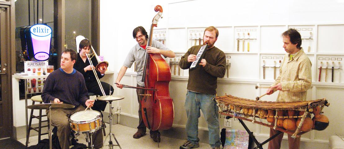 James Ilgenfritz and Sara Weaver with Evan Mazunik, Lukas Ligeti and John McLellan - Elixer 2005