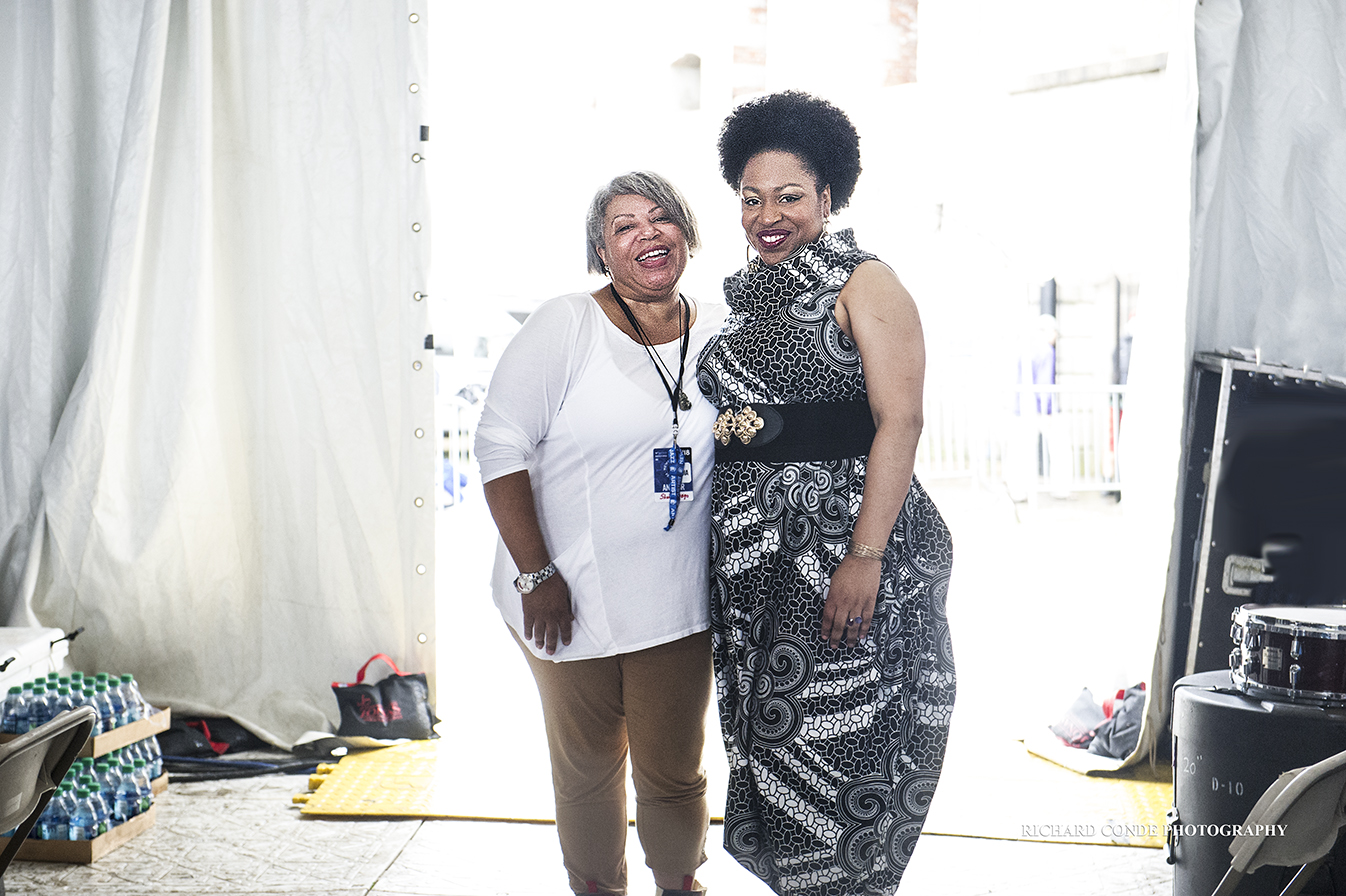 Shelia Anderson and Charenee Wade at the 2018 Newport Jazz Festival