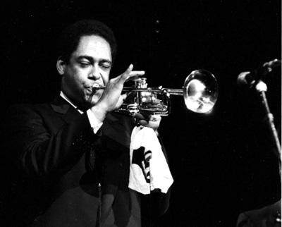 Jon Faddis 0425437 Philip Morris Jazz, Dominion Theatre, London. Nov. 1985 Images of Jazz