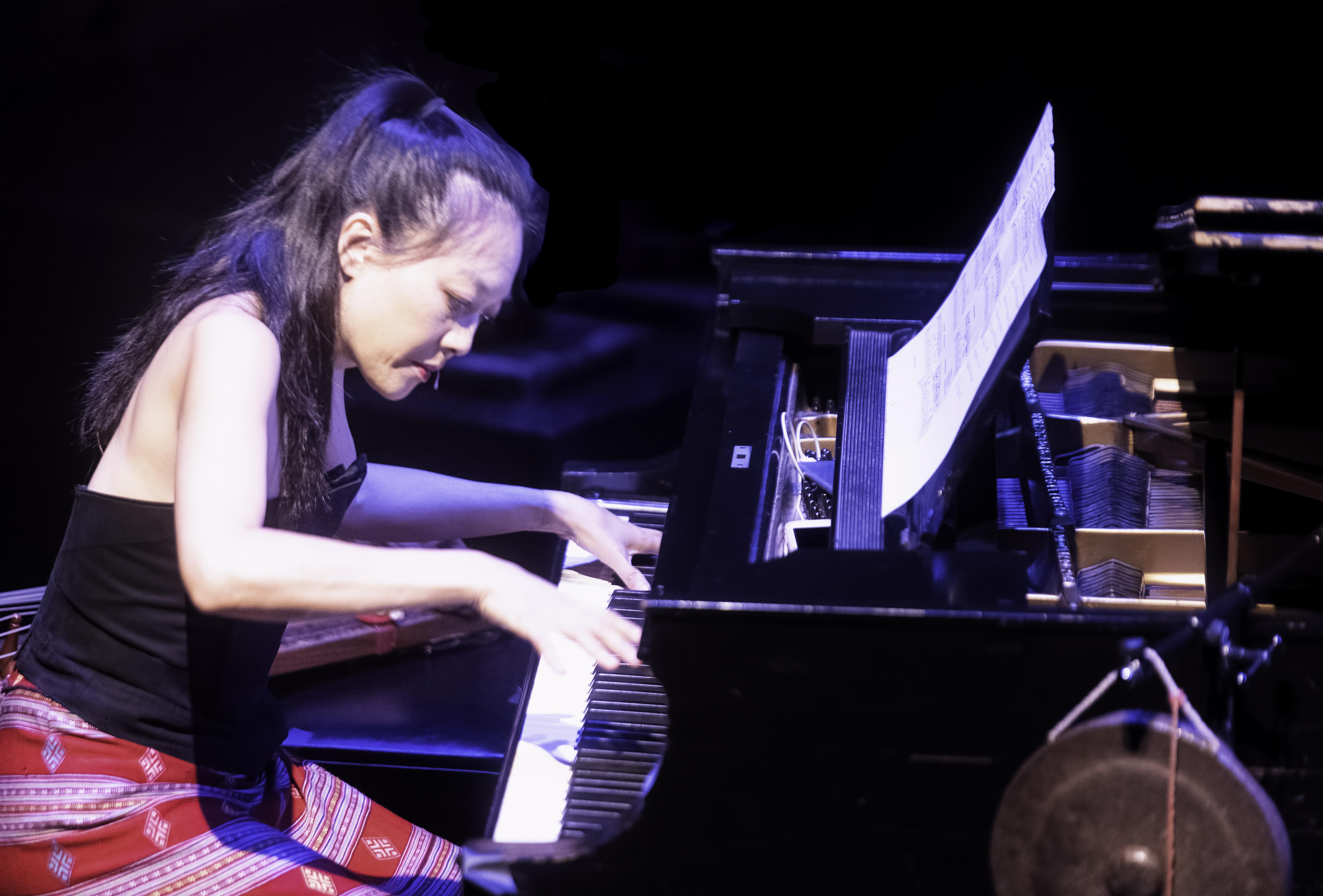 Jen Shyu performing Nine Doors at the Guelph Jazz Festival 2019