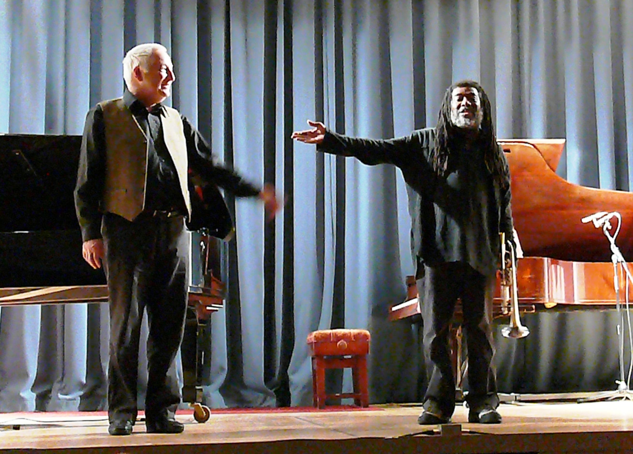 John Tilbury and Wadada Leo Smith at the Bishopsgate Institute, London in November 2012