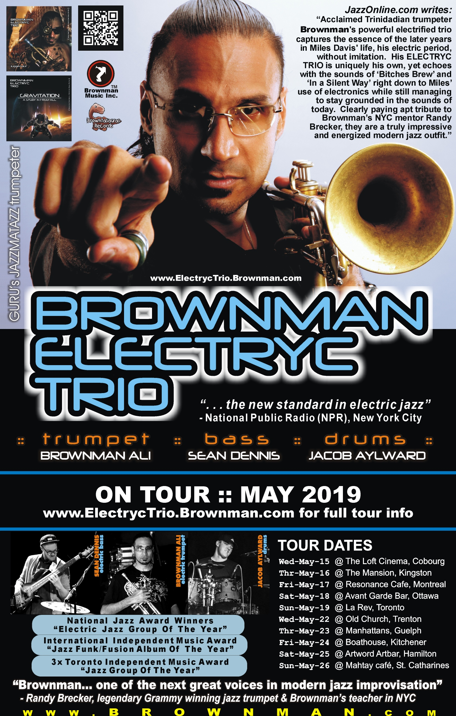BROWNMAN ELECTRYC TRIO - Spring Tour Date