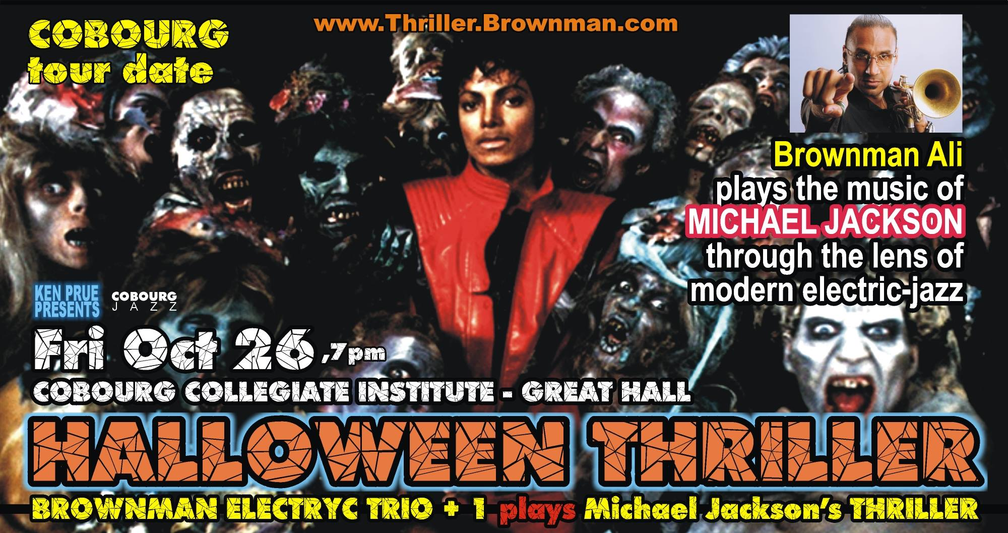 BROWNMAN'S Halloween Thriller (cobourg) - Michael Jackson As Electric-jazz