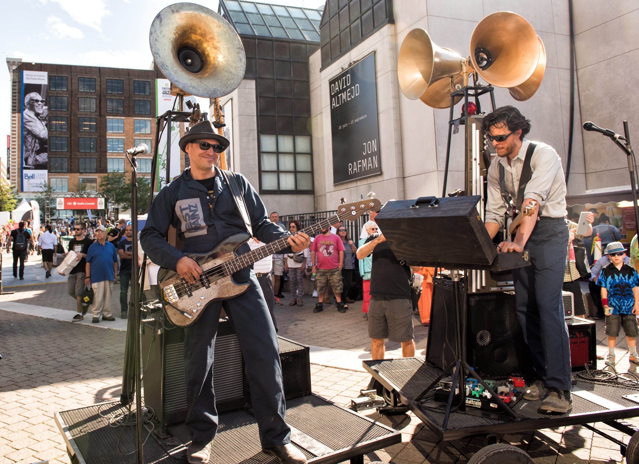 Erik West Millette and Olaf Gundel with West Trainz at the Montreal International Jazz Festival 2015