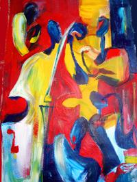 At the Jazz Club (Acrylic)