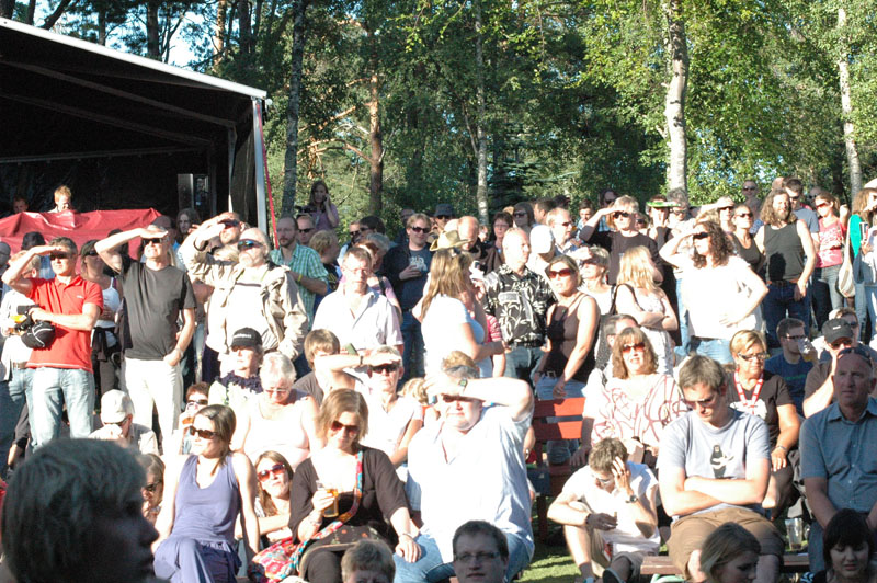 Audience for Motorpsycho Performing with Trondheim Jazz Orchestra and Trondheimsolistene at Molde Jazz 2010