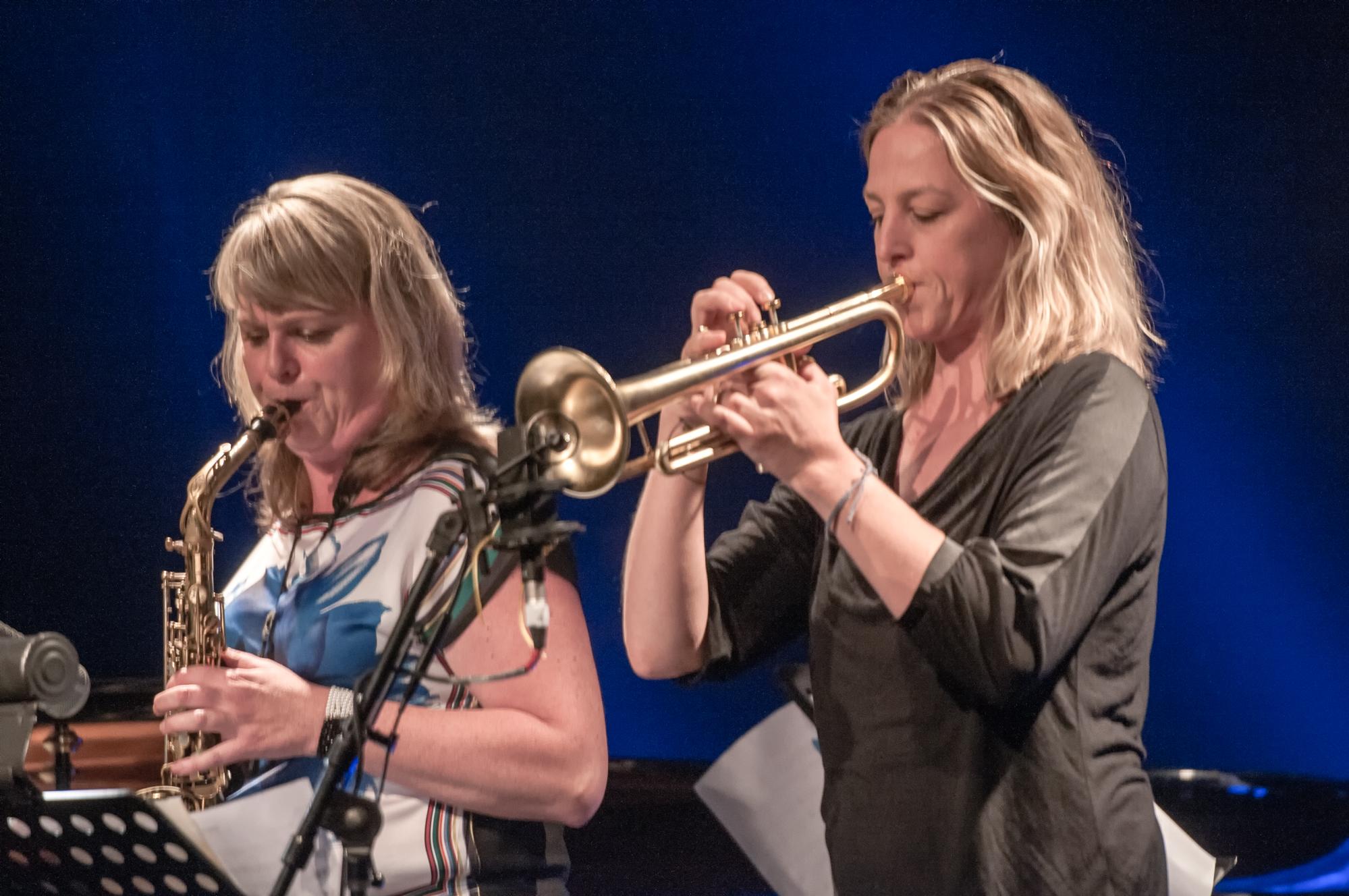 Christine jensen and ingrid jensen at the montreal international jazz festival 2013
