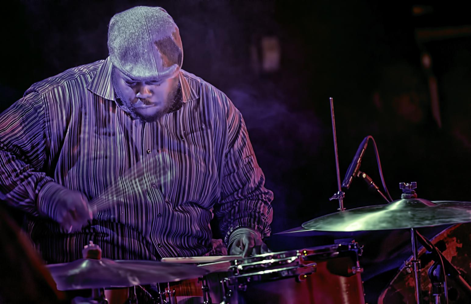 Johnathan Blake with the Pharoah Sanders Quartet at The NYC Winter Jazzfest 2017