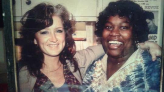 Margie Evans and Bonnie Raitt at the Home of M.K. Aldin