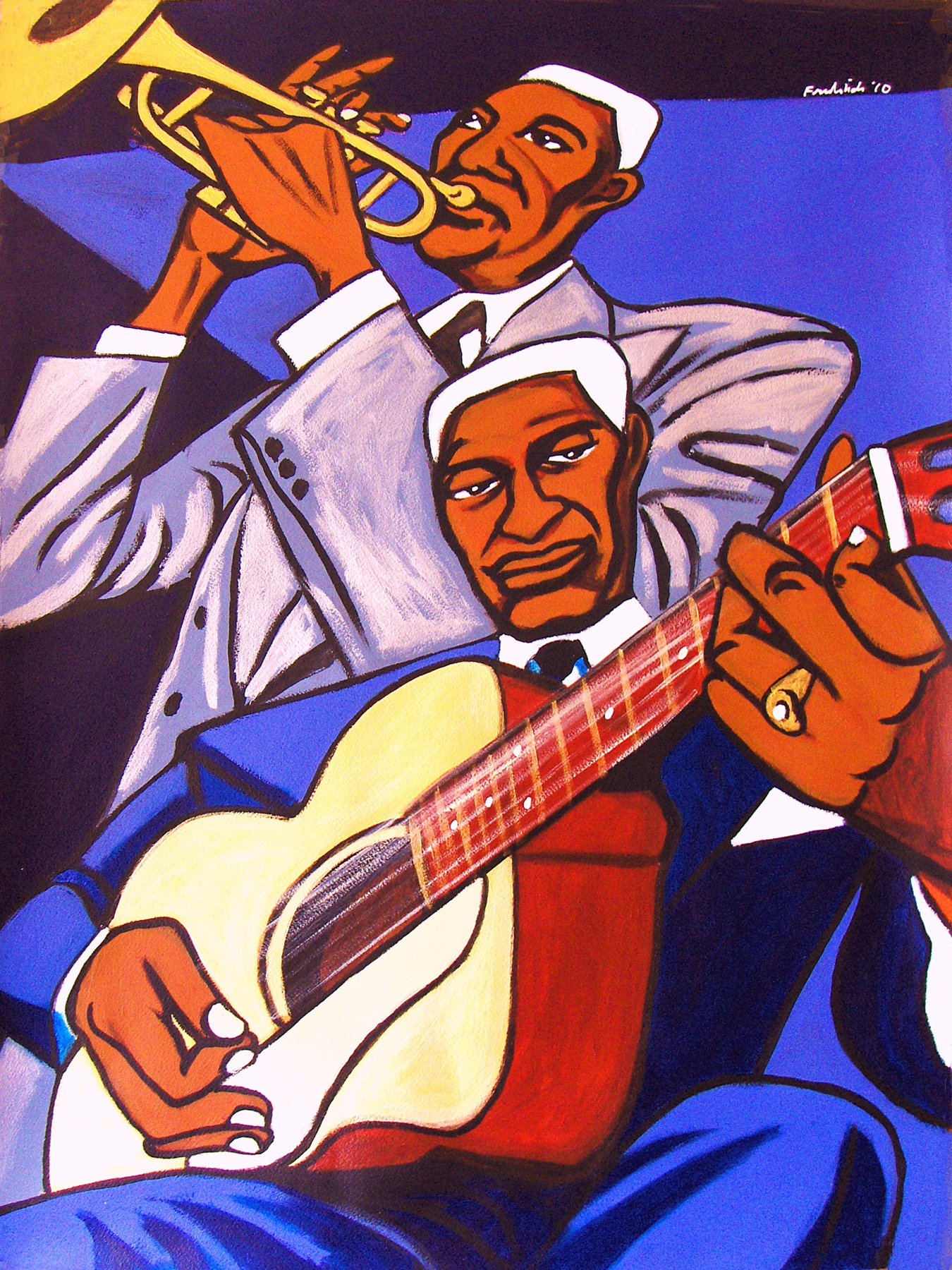 Bunk Johnson and Leadbelly