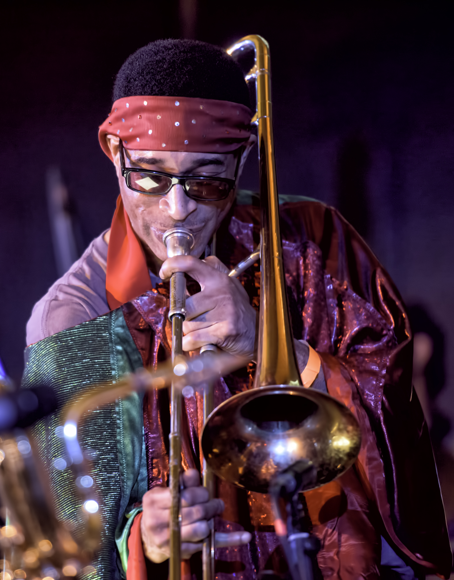 Dave Davis with the Sun Ra Arkestra Directed by Marsall Allen at the 20th Anniversary Vision Festival 2015