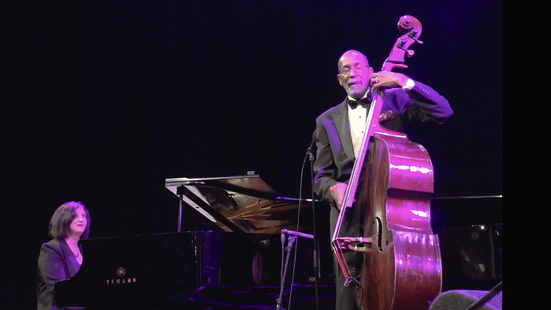 Ron Carter with Renee Rosnes on piano, a salute to Miles Davis,