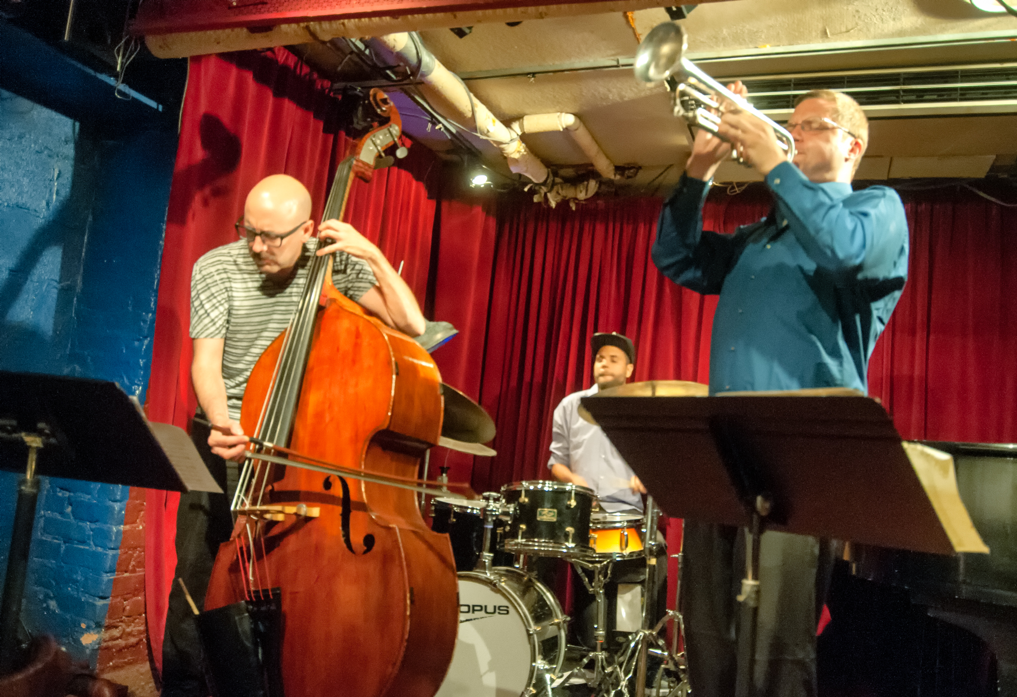 John hebert, kassa overall and peter evans with the zebulon trio at the cornelia street cafe