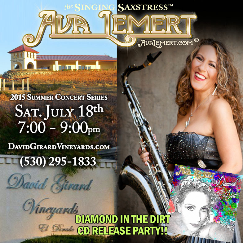Singing Saxstress™ at David Girard Vineyards 7/18/15