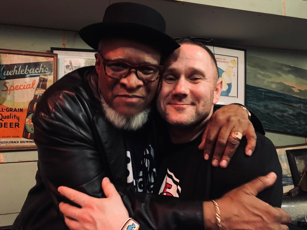 Sylwester Ostrowski with Bobby Watson