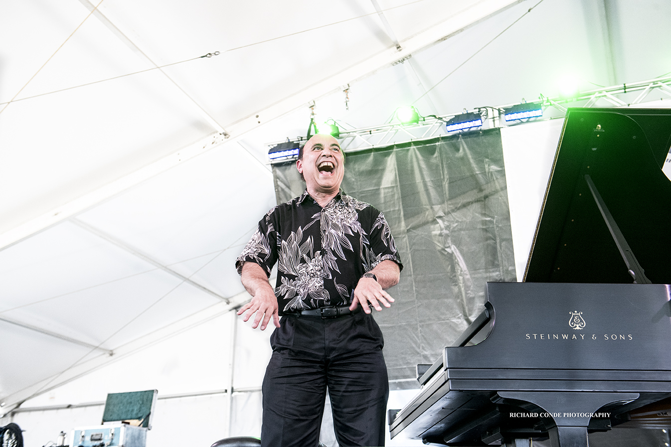 Michel Camilo at the 2018 Newport Jazz Festival