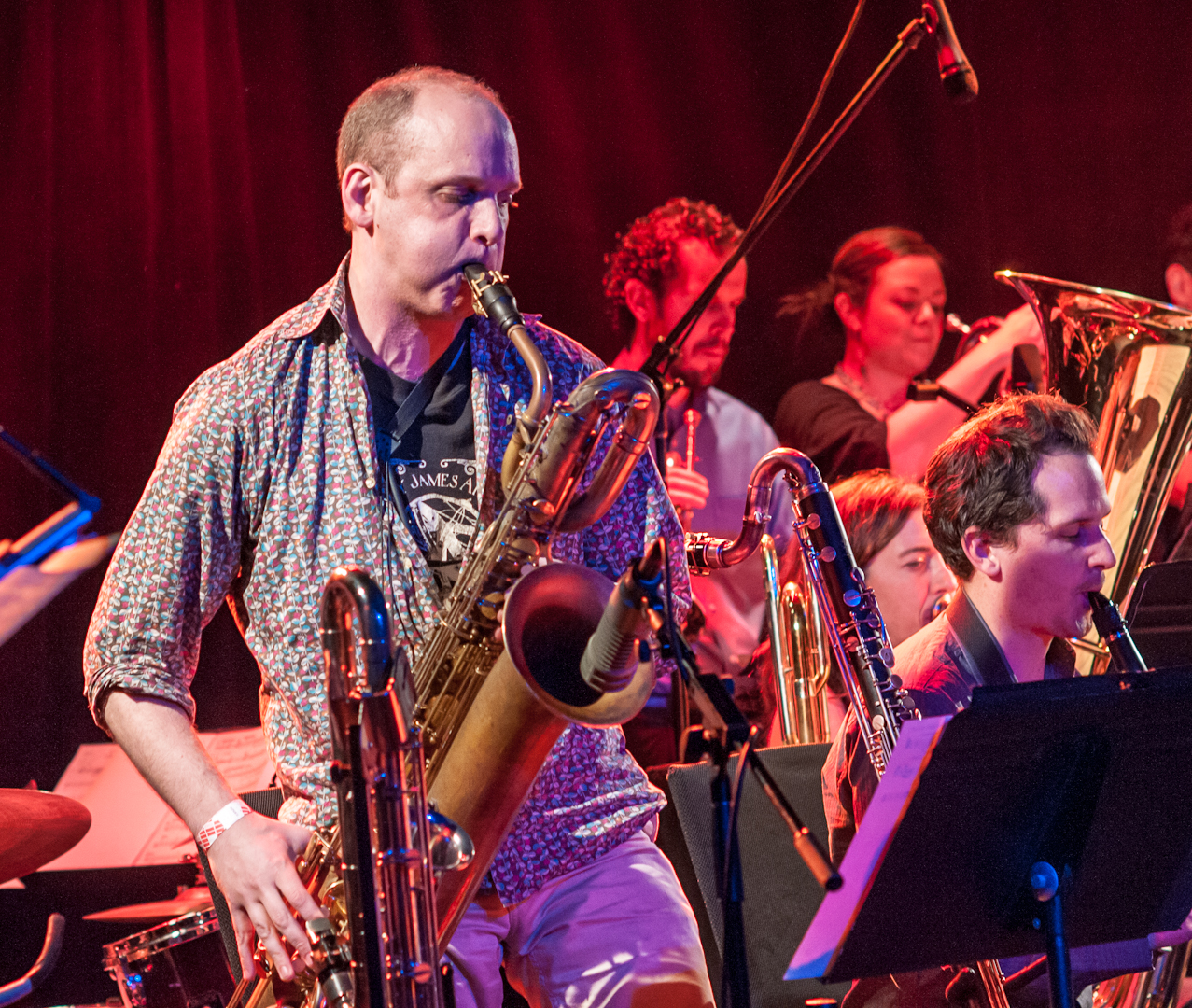 Josh Sinton with the Darcy James Argue's Secret Society at le Poisson Rouge