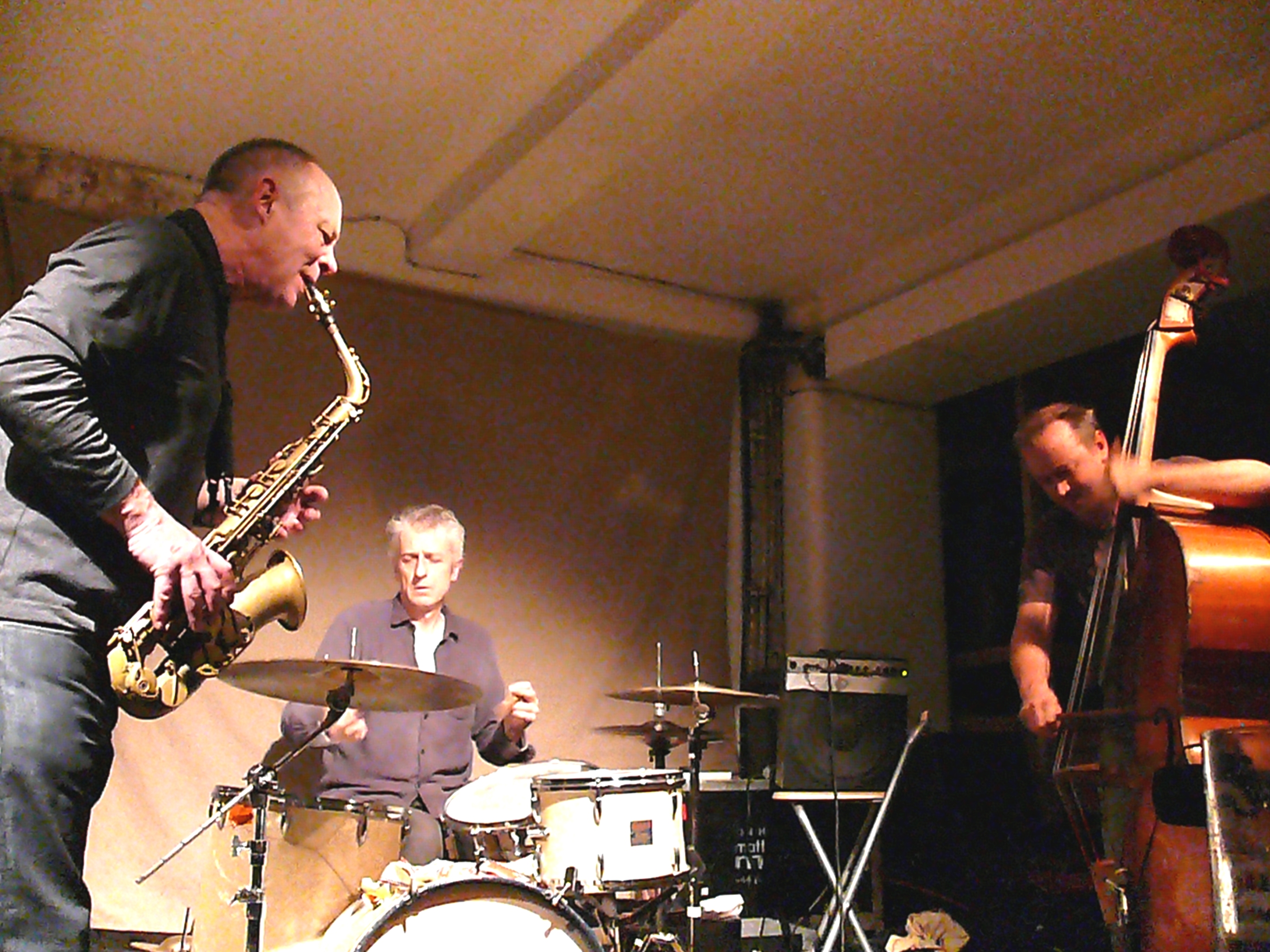 Alan Wilkinson, Steve Noble and John Edwards Trio at Cafe Oto, London in January 2013