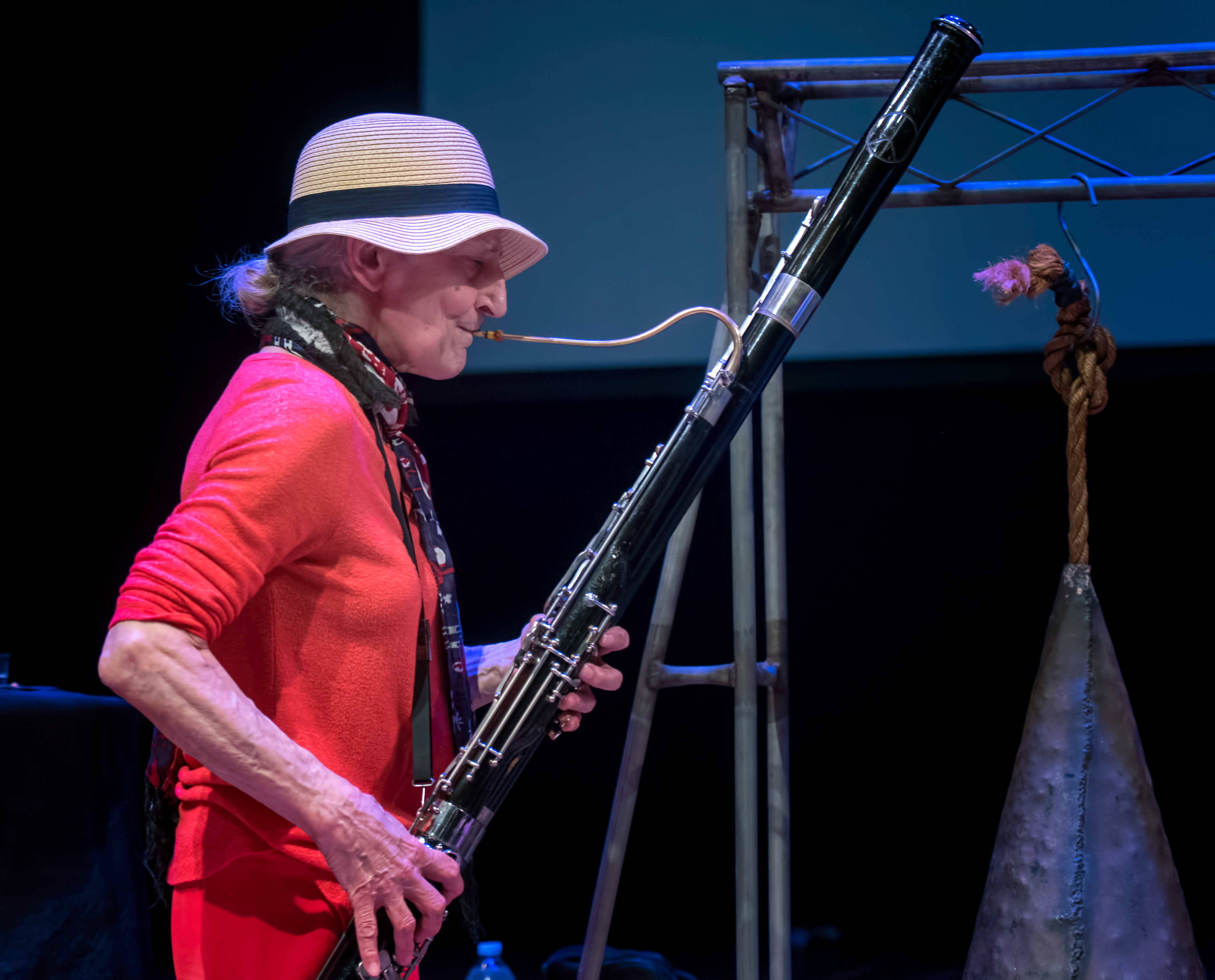 Karen Borca with the Whit Dickey Trio At the Vision Festival 2018