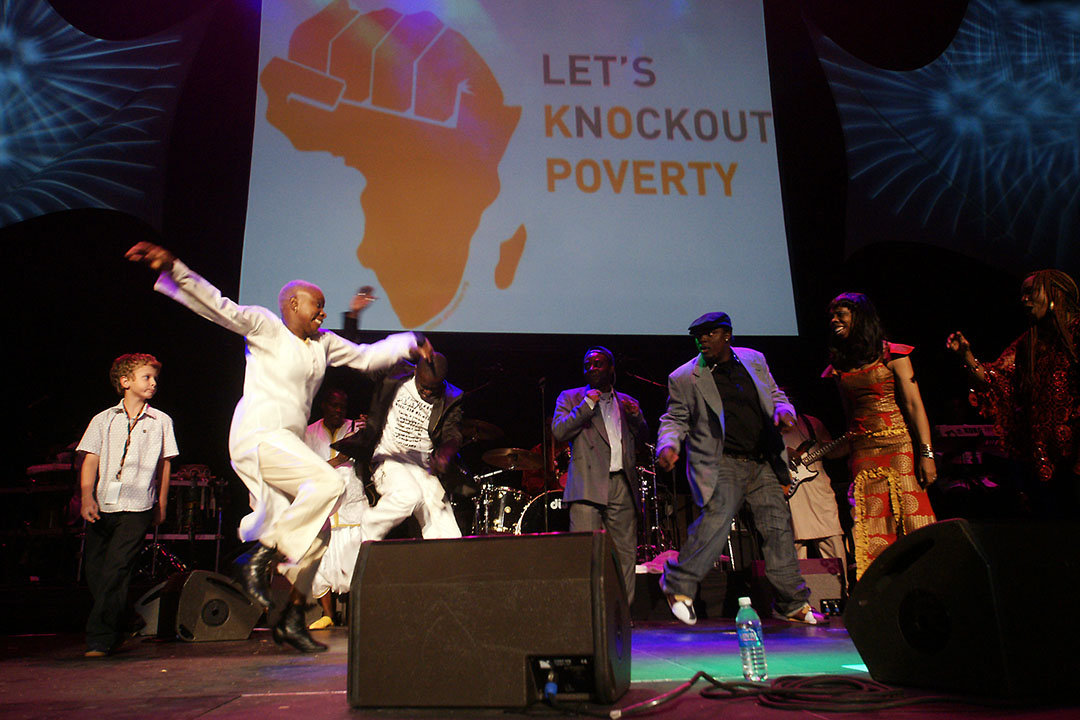 Angelique Kidjo Performing at All for Africa Event