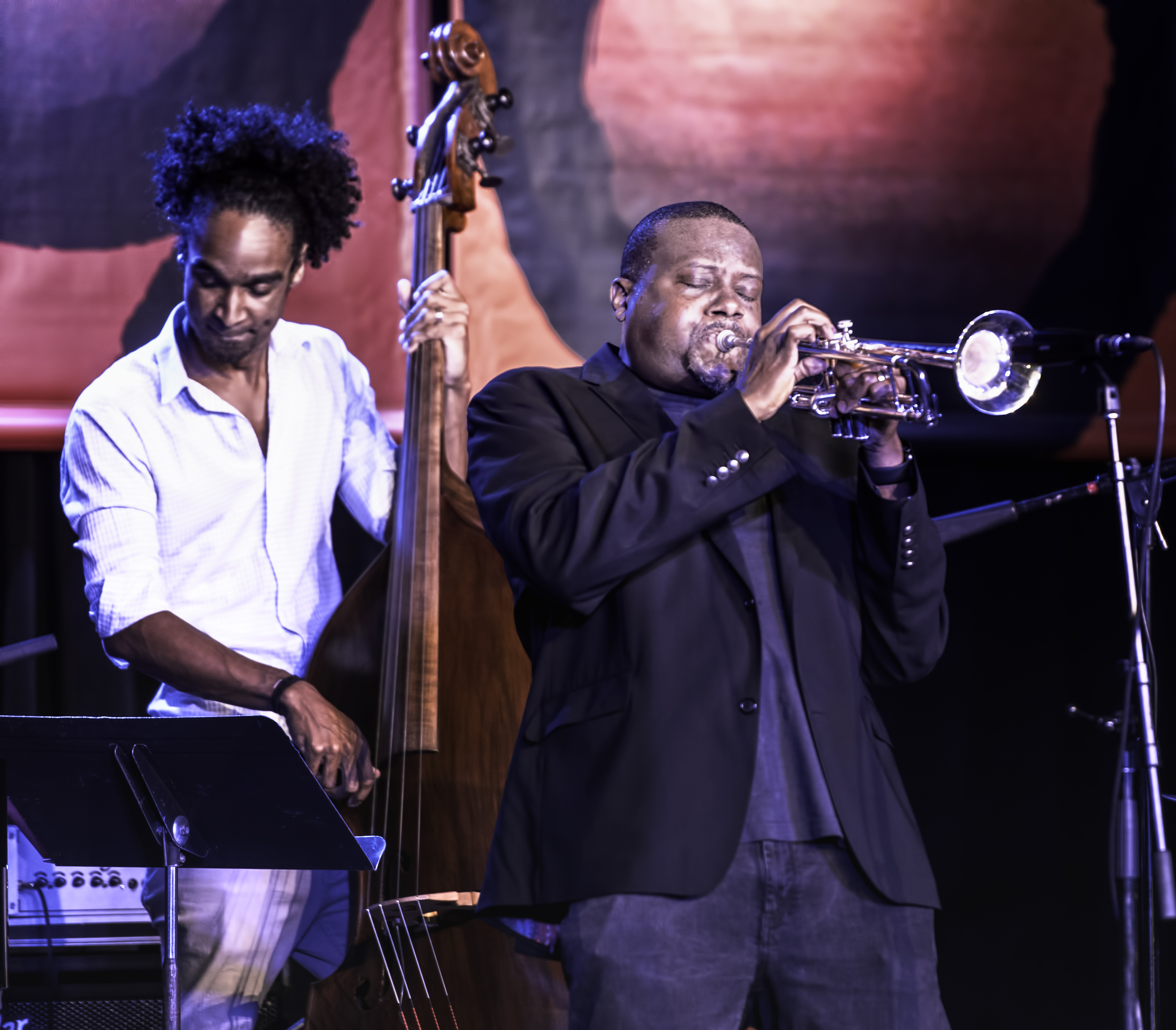 Kris Funn and Sean Jones at the Monterey jazz Festival