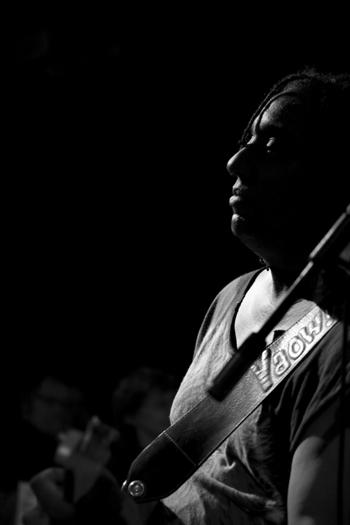 Hiram Bullock of the Hiram Bullock Trio - Gdynia in Oct. 2007
