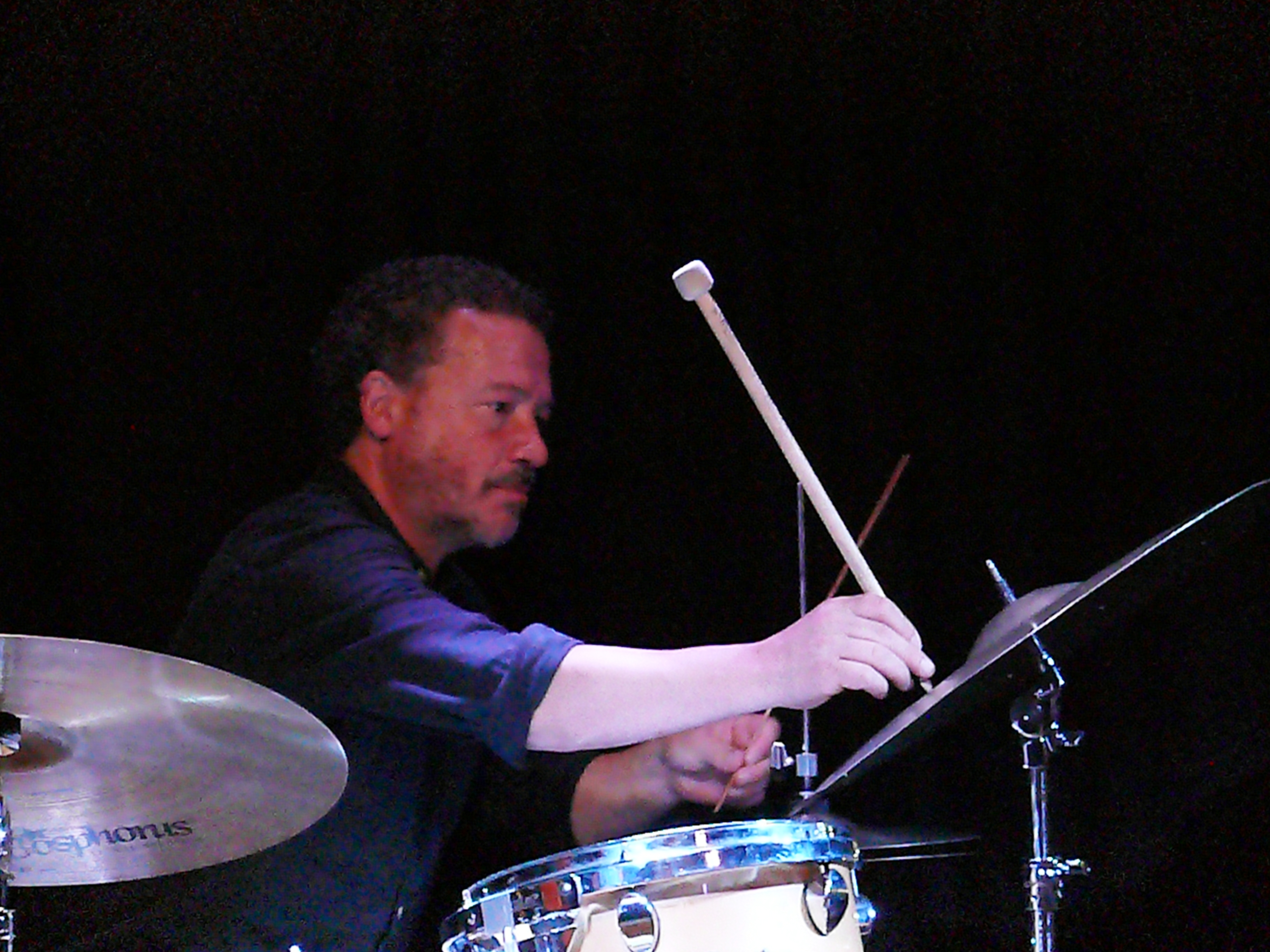 Mark Sanders at the Vortex, London in August 2017