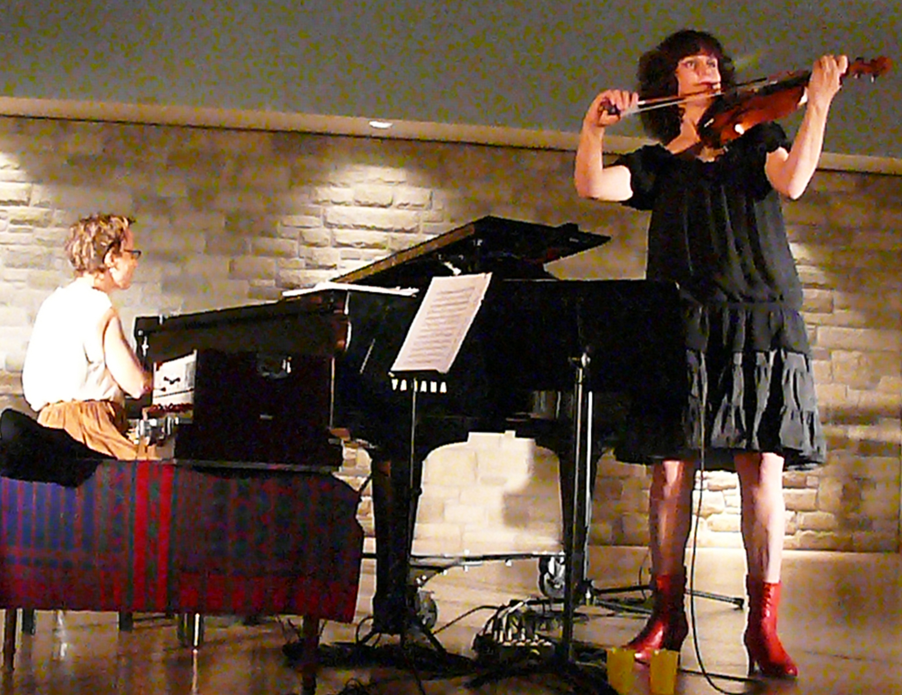 Myra Melford and Jenny Scheinman at Guelph 2012
