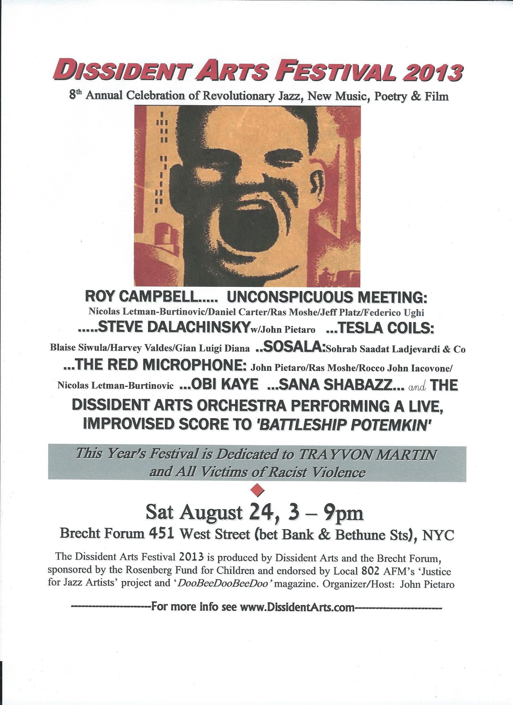 Dissident arts festival 2013