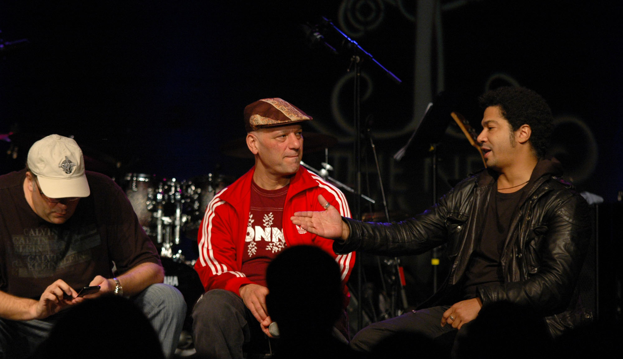 Scott Kinsey, Arto Tuncboyaciyan and Matthew Garrison, Human Element CD Listening Party at the 2010 New Universe Music Festival