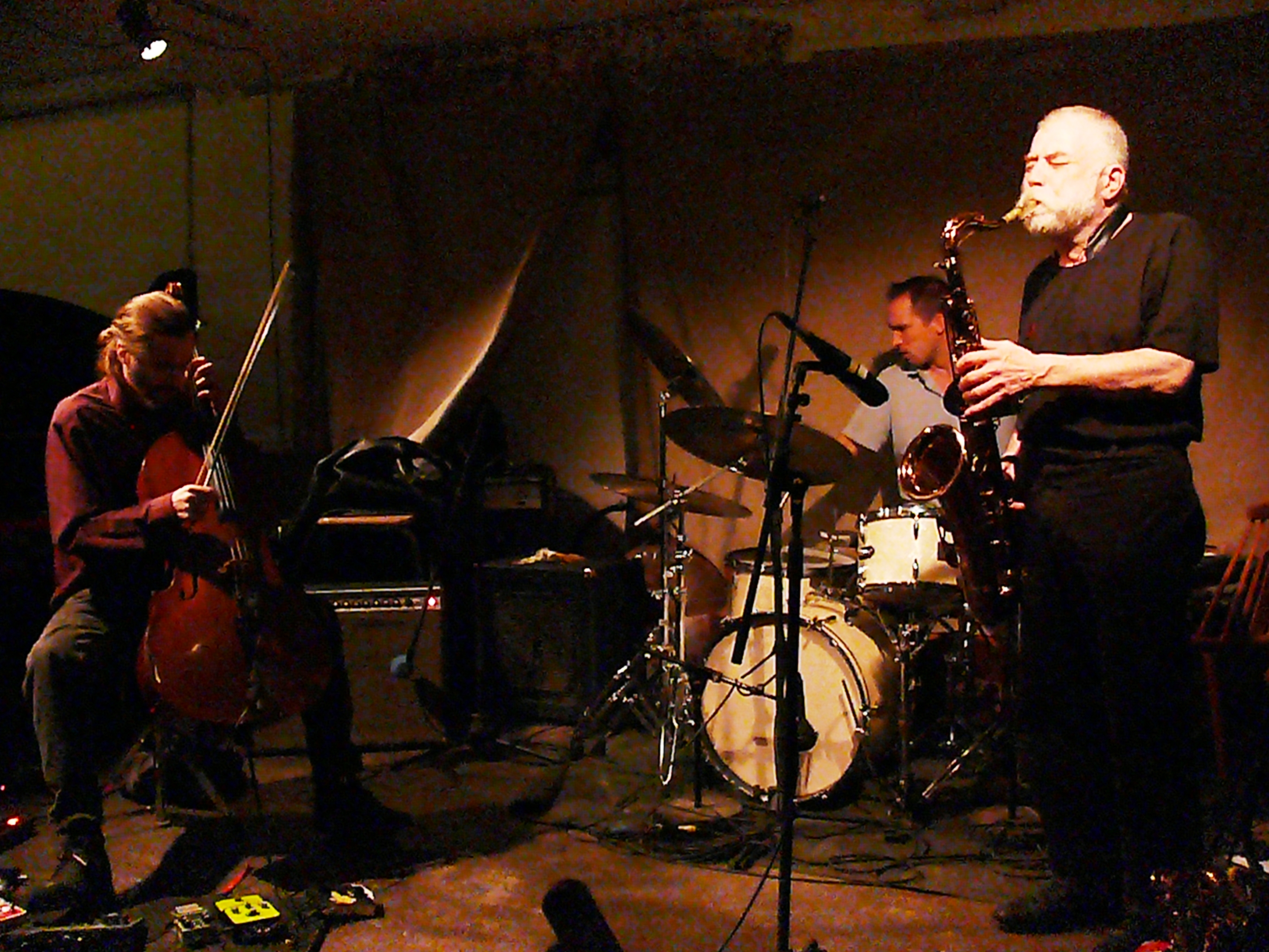 Fred Lonberg-Holm, Paal Nilssen-Love and Peter Brotzmann at Cafe Oto, London in November 2012