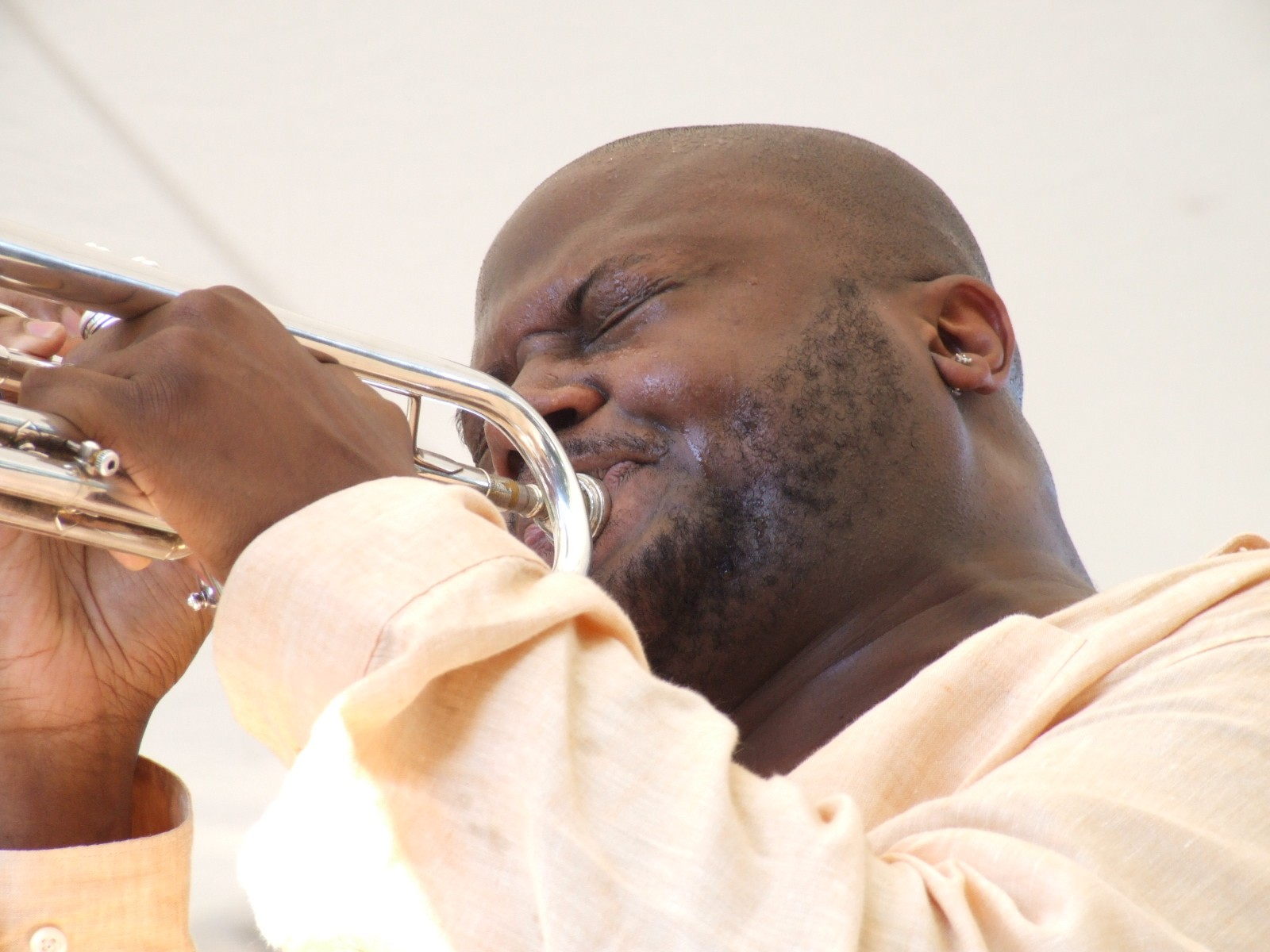 2008 Chicago Jazz Festival, Sunday: The Quintet of Young Trumpet Star Sean Jones Wound up the Afternoon Sets