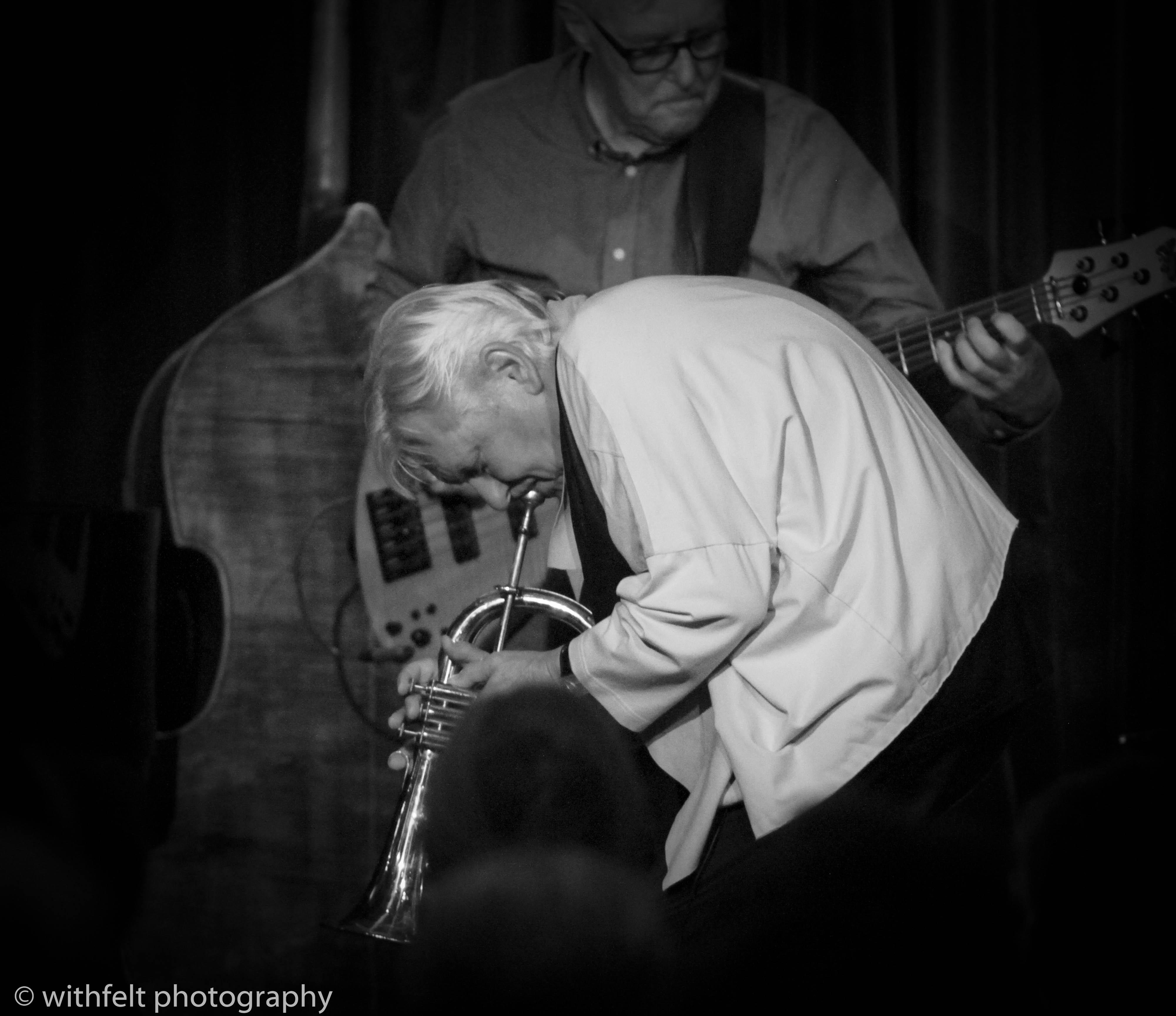 Palle Mikkelborg ( Riel / Mikkelborg / Stief / Dahl ) at Jazzhus Montmartre in Copenhagen, Denmark 25.08.2018