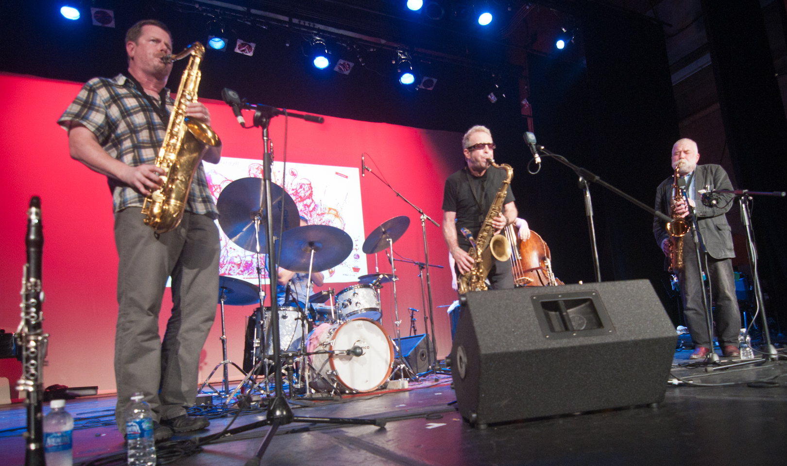 Ken Vandermark, Mars Williams and Peter Brotzmann at the Vision Festival 2011