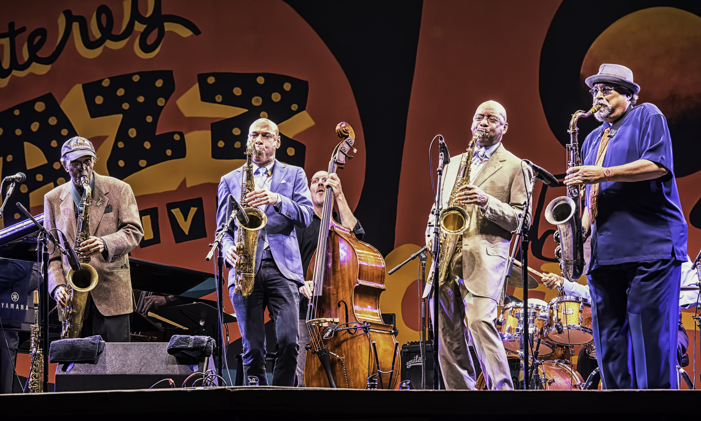 Jimmy Heath, Joshua Redman, Scott Colley and Joe Lovano with A Tribute to Sonny Rollins at the Monterey Jazz Festival
