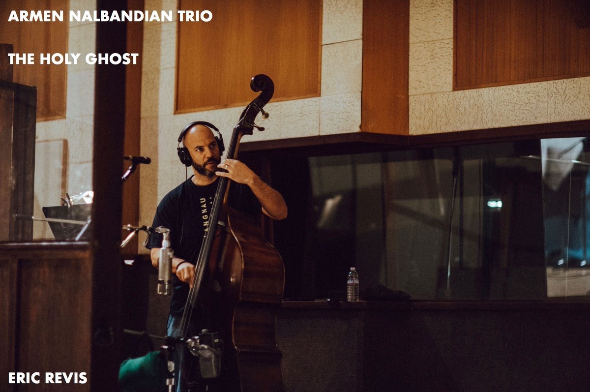 Eric Revis recording Armen Nalbandian Trio's The Holy Ghost