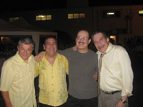 With Sammy Figueroa, Dave Valentin, and Carlomagno Araya